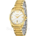 Bonia All IP Yellow Gold White Dial Ladies Watch - BNB931-2213