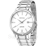 Bonia All Stainless Steel White Dial Men Watch - BNB961-1312