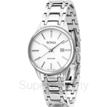Bonia All Stainless Steel White Dial Ladies Watch - BNB961-2312