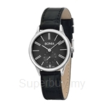 Bonia Black Leather Strap Black Dial Ladies Watch - BNB961-2339