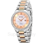 Bonia Two Tone IP Rose Gold Ladies Watch - BNB962-2153S