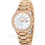 Bonia IP Rose Gold Ladies Watch - BNB962-2253S