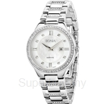 Bonia All Stainless Steel White Dial Ladies Watch - BNB962-2353S