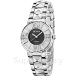 Bonia All Stainless Steel Black Mother of Pearl Dial Ladies Watch - BNB977-2333