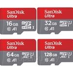SanDisk Ultra MicroSD A1 Class 10 + Adapter Card