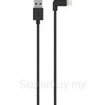 Belkin MIXIT 90° Lightning to USB Cable Black - F8J147bt04