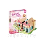 GeNz Kids 3D Puzzle Doll House Sweet Villa
