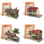[Set of 4] GeNz Kids 3D Puzzle South East Asia Architecture