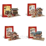 [Set of 4] GeNz Kids 3D Puzzle Chinese Architecture