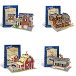 [Set of 4] GeNz Kids 3D Puzzle American Architecture
