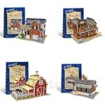 [Set of 4] GeNz Kids 3D Puzzle German Architecture