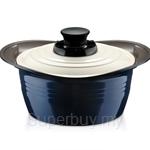 Roichen Premium Pot 20 Casserole Blue & White - RPCB20CB