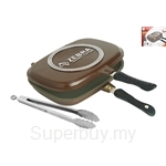 Zebra 32X24cm Square Double Grill Pan with Food Tong - Z174X407X000