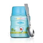Thermos 470ml Doraemon Stainless Steel King Food Jar with Spoon - SK-3001DRM