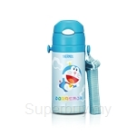 Thermos 400ml Doraemon Ice Cold Bottle with Strap - FFS-400DRM