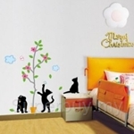 IR Animal Wall Deco Sticker - Playful Cats (35cmx35cm)