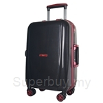 Travo AL Series 20 Inch Hard Case Aluminium Frame Trolley Luggage - Signature Black Red