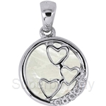 Lazo Diamond 9KW Diamond Mother of Pearl Pendant - PP5924