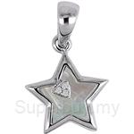 Lazo Diamond 9KW Diamond Mother of Pearl Pendant - PP5927