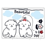 IR Animal Wall Deco Sticker - Twin Puppy (50cmx70cm)