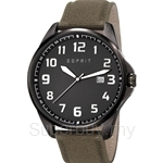 Esprit Clayton Canvas Military Green Men Watch - ES107991001
