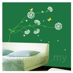 IR Flower & Plant Wall Deco Sticker - Heart Flower(50cmx70cm)