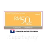 ROBINSONS / MARKS & SPENCER / RSH (MALAYSIA) Gift Voucher RM50