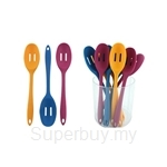 Fackelmann Silicone Slotted Spoon In Tube (Assorted Colours) - 5900381
