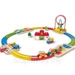 Hape Rainbow Route Railway & Station Set - HP3816