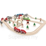 Hape High & Low Railway Set - HP3701