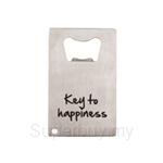 Fackelmann Stainless Steel Wallet Bottle Opener Key to Happiness Design - 5309181
