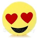Happy Hoops 30cm Lovey Eyes Funny Face Emoji Cushion