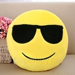 Happy Hoops 30cm Sunglasses Funny Face Emoji Cushion