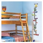 IR Kid's Room Wall Deco Sticker - Racing Cars (32cmx60cm)
