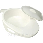 Hopkin Economy Bed Pan with Lid And Handle - BA-HRA-PP2