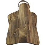 Fackelmann Acacia Wooden Cutting Board with Leather Strap Rustic - 5272581