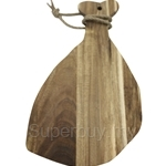 Fackelmann Acacia Wooden Cutting Board with Rope Strap Rustic - 5272681