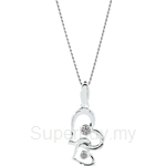 Lazo Diamond 9KW White Gold Diamond Pendant without Chain - DPB517