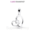 Lazo Diamond 9KW White Gold Diamond Pendant without Chain - DPB668