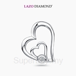 Lazo Diamond 9KW White Gold Diamond Pendant without Chain - DPC081