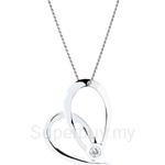 Lazo Diamond 9KW White Gold Diamond Pendant without Chain - DPC083
