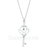 Lazo Diamond 9KW White Gold Diamond Pendant without Chain - DPA959
