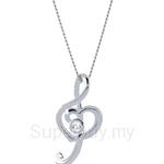 Lazo Diamond 9KW White Gold Diamond Pendant without Chain - DPB279
