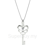 Lazo Diamond 9KW White Gold Diamond Pendant without Chain - DPB591
