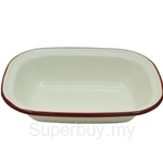 Fackelmann Enamel Oblong Pie Dish (Medium) - 687892