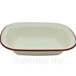 Fackelmann Enamel Oblong Pie Dish (Large) - 687893