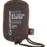 Lifeventure Silk Cotton Sleeping Bag Liner - LVE-65420