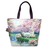 HCF Cherry Blossom Large Pocket Tote Bag - FPT2-48
