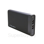 iTouch 12000mAh 2.0A Current with LCD Display Rechargeable Powerbank Black - iPower-12000L