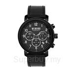 Versus Hoxton Square VES70010016 Black Leather Strap Chronograph Men Watch